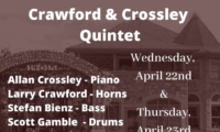 Crawford & Crossley Quintet @ Zias Stonehouse Restaurant